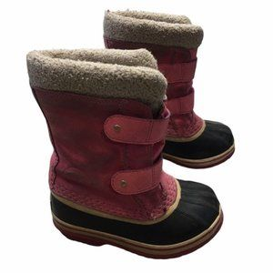 SOREL Toddler Pink Pac Strap Faux Fur Winter Boots